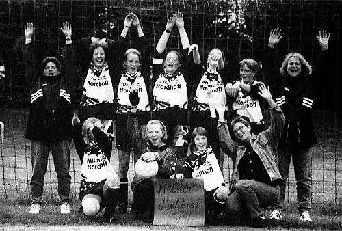 Mädchenmannschaft 1996 Meister der Kreisliga B